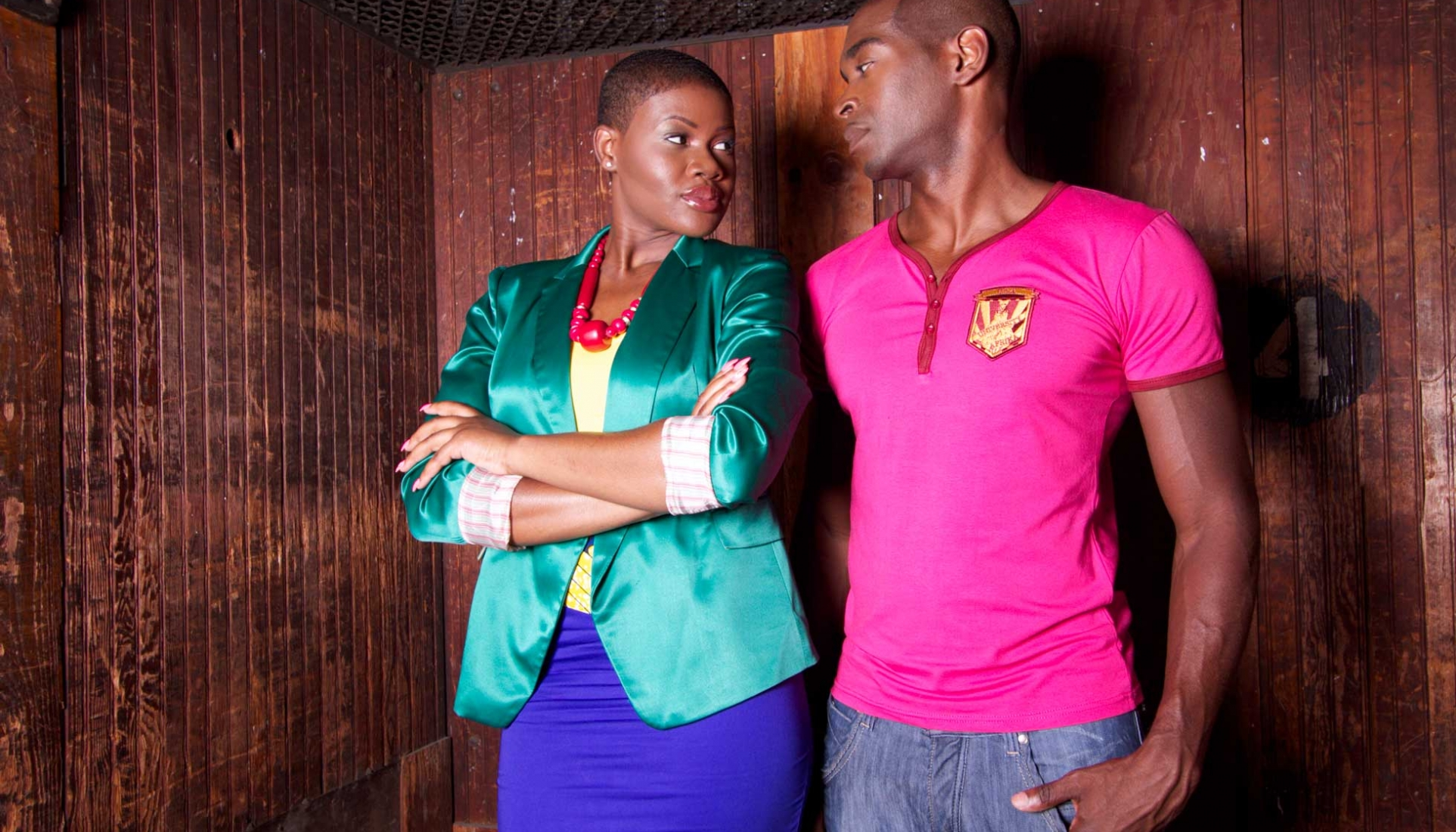 University of Afrika (UoA) Men's Henley Pink Lifestyle